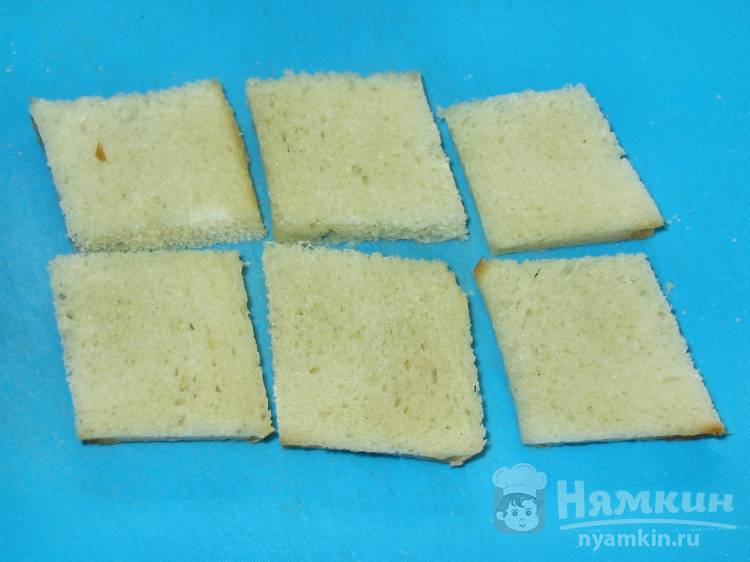 Гренки с сыром в микроволновке - фото шаг 1