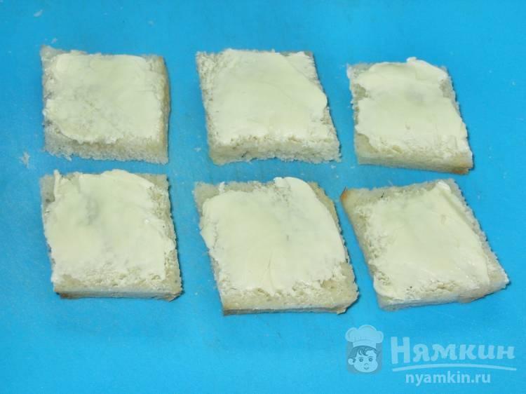 Гренки с сыром в микроволновке - фото шаг 2