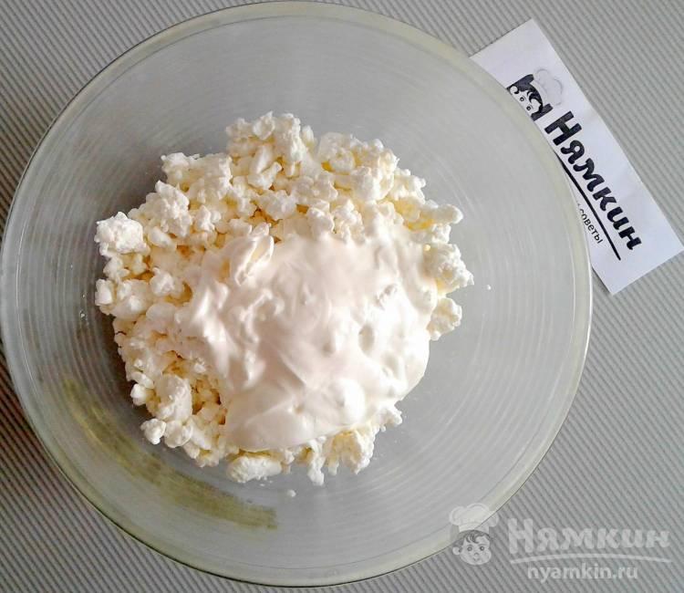 Творожная масса со сметаной и сливочным маслом на завтрак - фото шаг 3