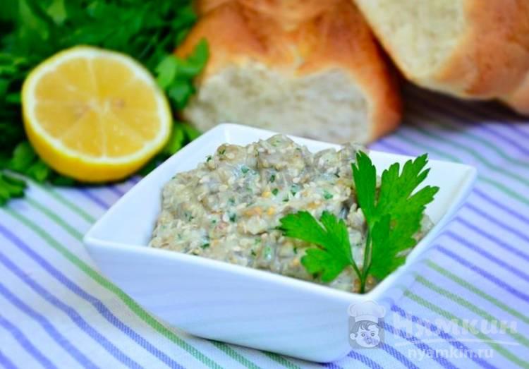Турецкая закуска из баклажан  патлыджан эзмеси