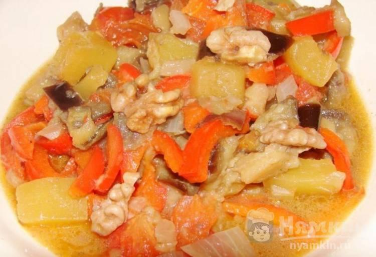 Пикантные баклажаны с грецкими орехами