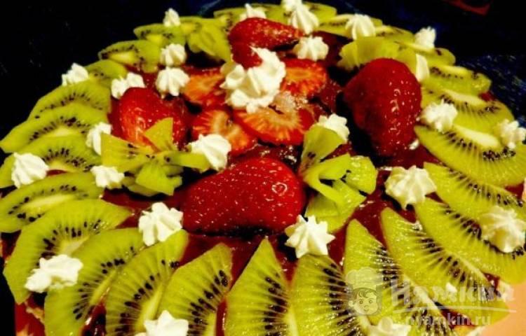 Постный торт из фруктов
