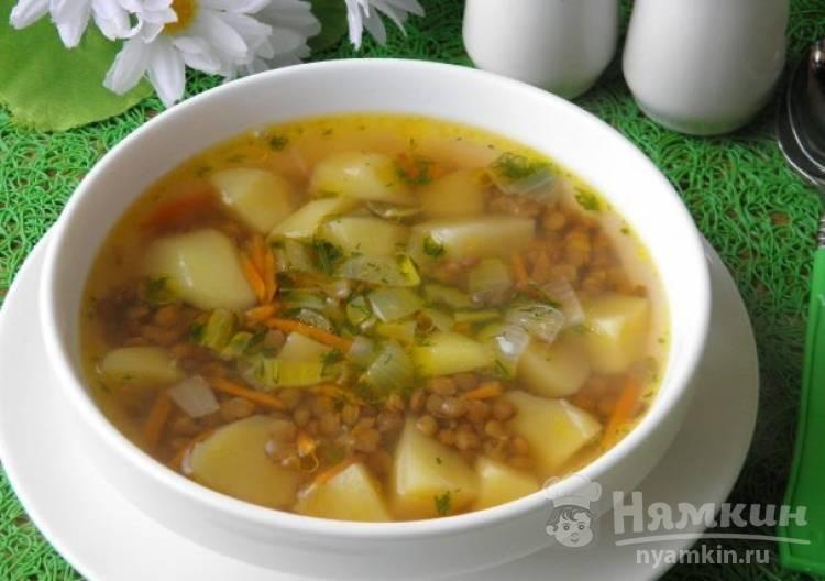 Суп из чечевицы постный