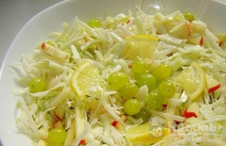 Постный салат из капусты с медово-лимонной заправкой