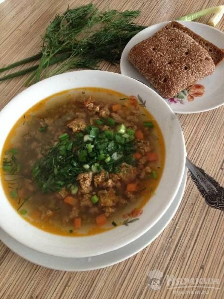Суп из крупы маш