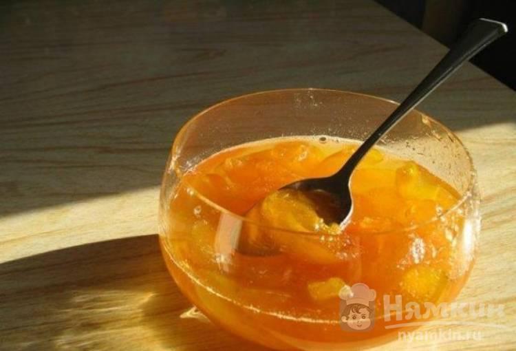 Апельсиновое варенье с зернами кофе