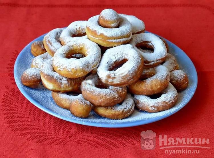 Пончики жареные на сковороде