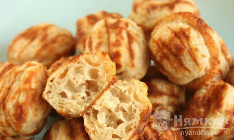 Кексы пофферчес из пшеничной и гречневой муки