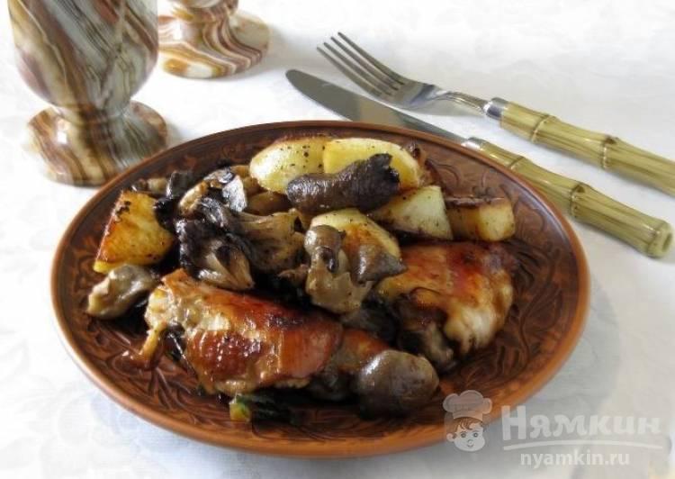 Куриное фрикасе по-женевски с грибами