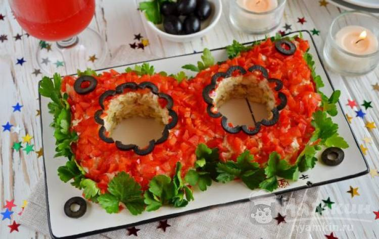 Салат «Маска» на праздничный стол