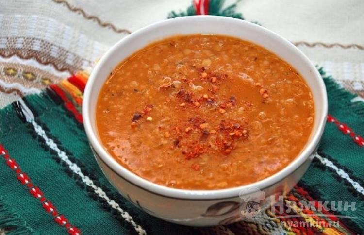 Диетический чечевичный суп