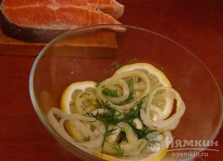 Нежный маринад для шашлыка из рыбы с лимоном и чесноком