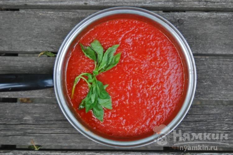 Томатный соус для шашлыка с анчоусом и белым вином