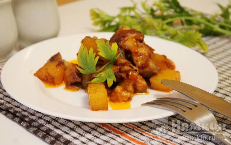 Свиное рагу с картофелем
