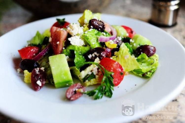 Греческий салат в домашних условиях
