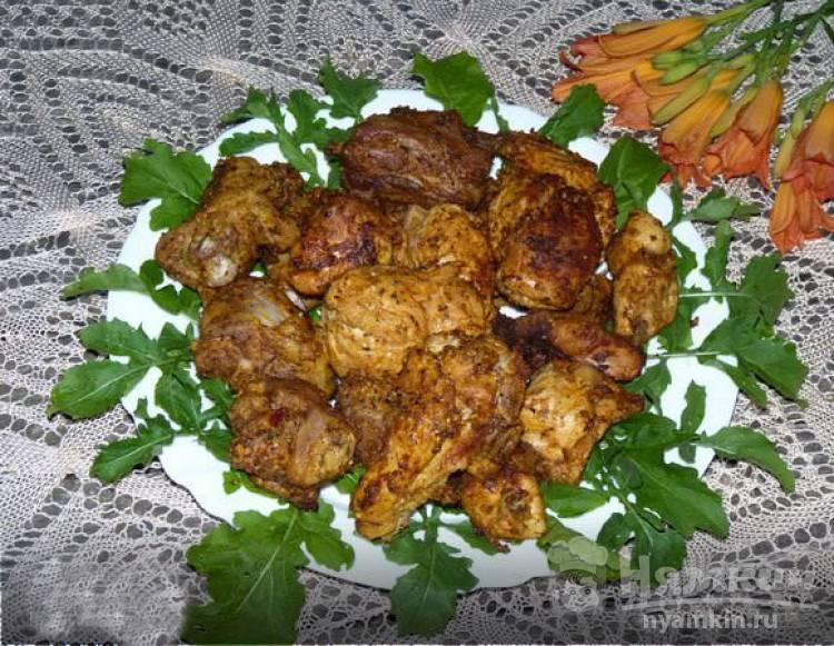 Шашлык из индейки в маринаде из майонеза и горчицы