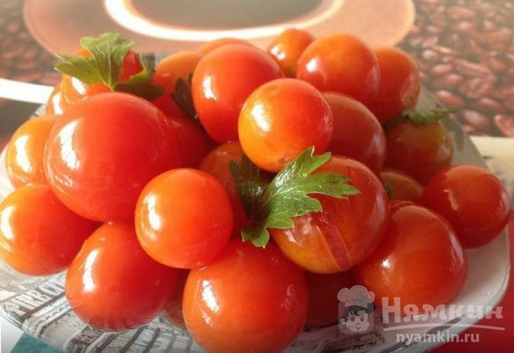 Малосольные помидоры черри быстрого приготовления