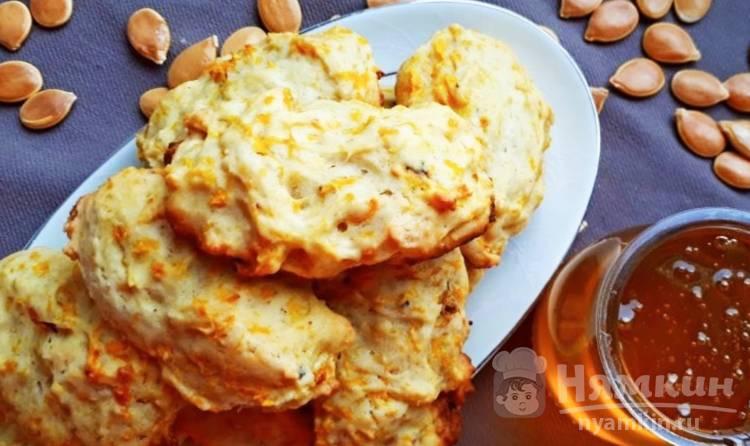 Домашнее тыквенное печенье с корицей