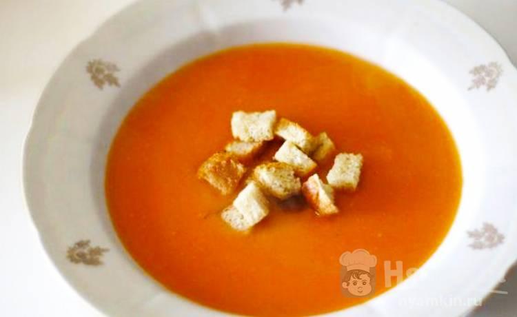 Диетический суп-пюре по-французски