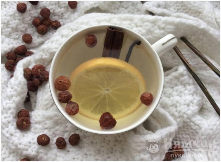 Чай с шиповником и апельсином
