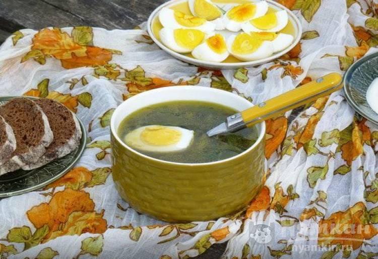 Суп из зелени с яйцом по-словацки
