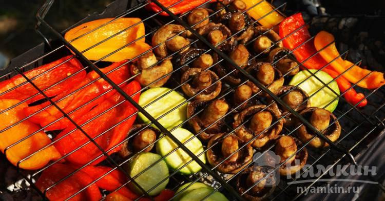 Овощи на гриле в маринаде
