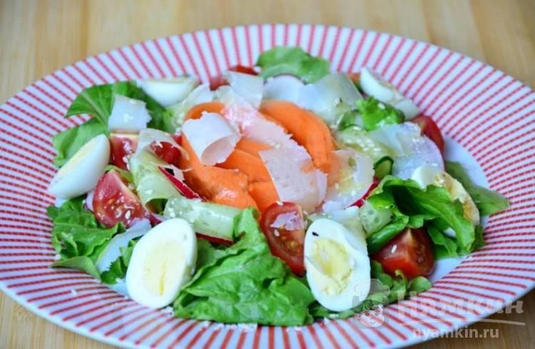 Разноцветный овощной салат