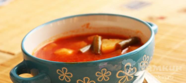 Томатный суп по-мексикански в мультиварке