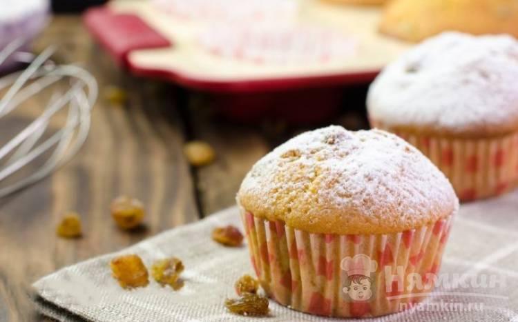 Домашние кексы в духовке с изюмом