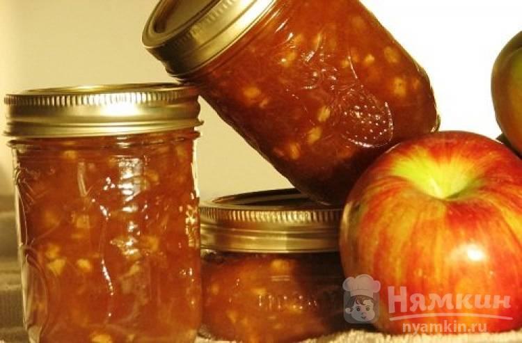 Варенье из яблок и груш с грецкими орехами