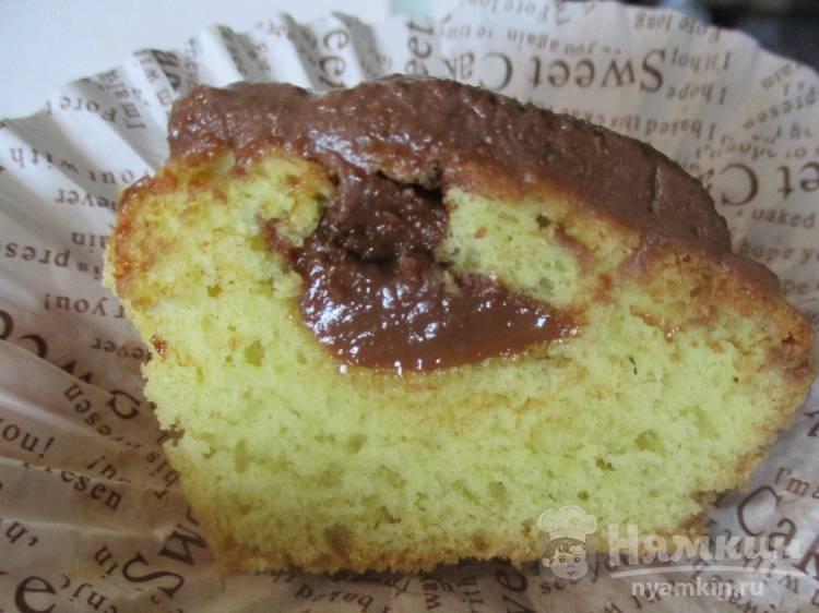 Бисквитные кексы с вареной сгущенкой