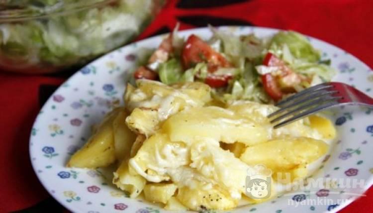 Картофель с сыром в микроволновке