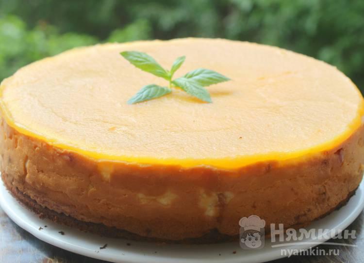 Творожный пирог с яблочным пюре