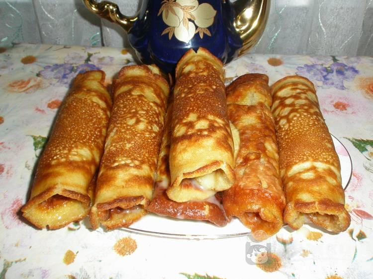 Блинчики со сгущенкой рецепт с фото