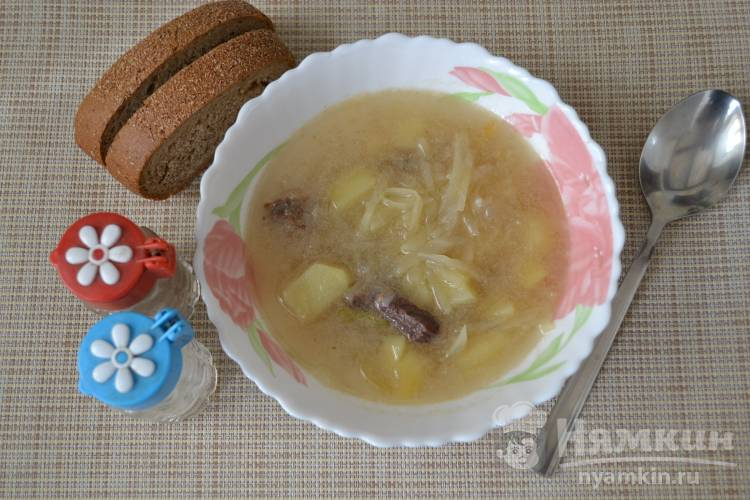 Суп из конины со свежей капустой
