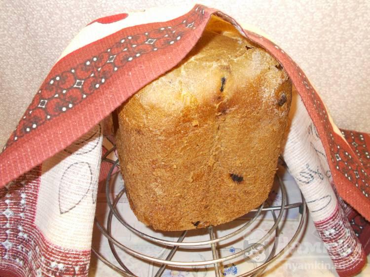 ПП хлеб на закваске с черносливом в хлебопечке