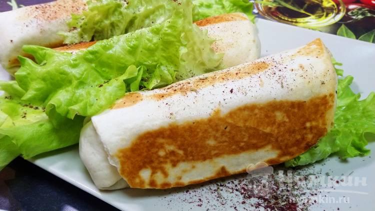 Мексиканская хрустящая Тортилья с курицей и овощами