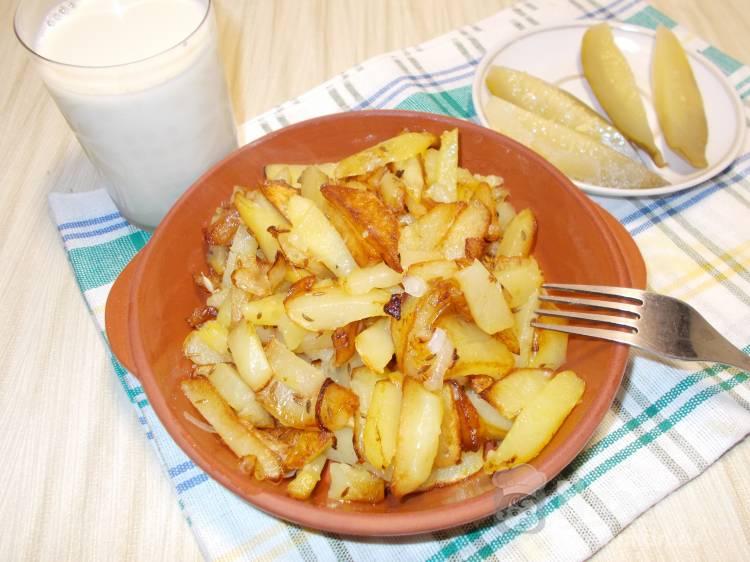 Жареная картошка с зирой