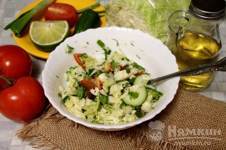 Овощной салат с зеленью на ужин