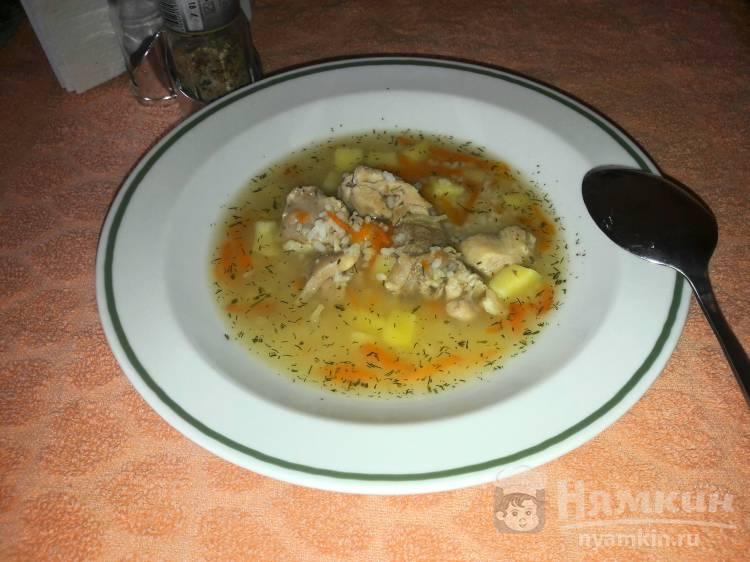 Диетический рисовый суп с куриным мясом в мультиварке