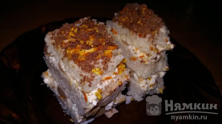 Пирожное из хлеба, творога и апельсиновой цедры