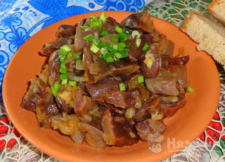 Утиные желудки в соевом соусе