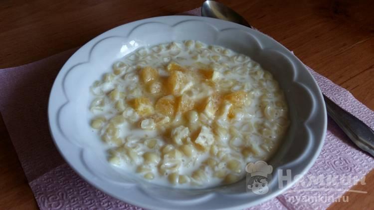 Детский молочный суп с апельсином