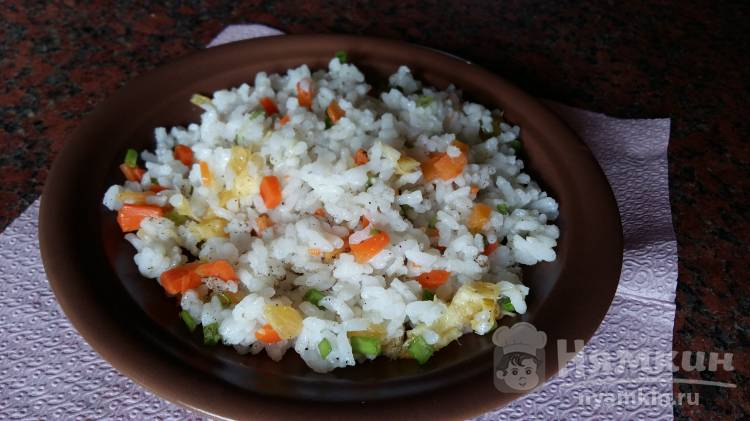 Рис с морковью и апельсином