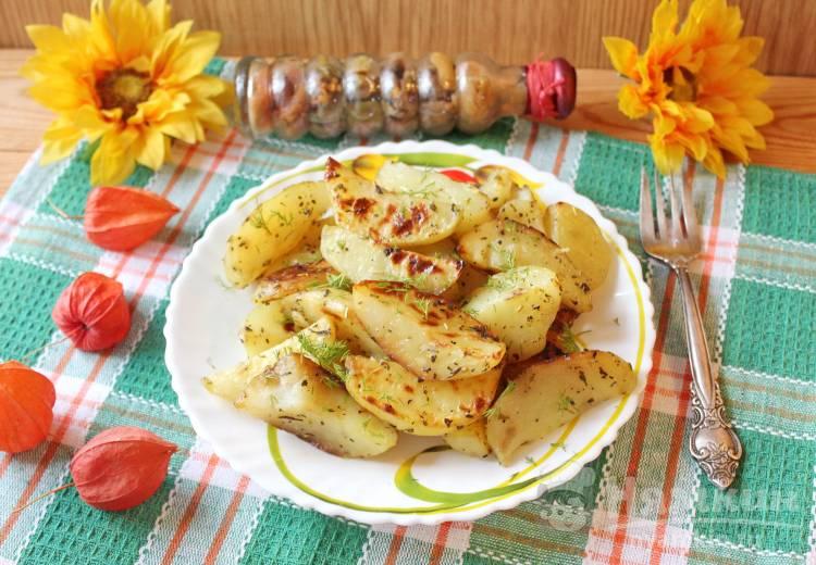 Картофель в пакете  для запекания с соевым соусом