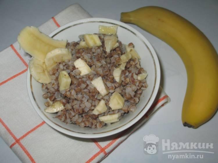 Гречка с бананом в Великий пост