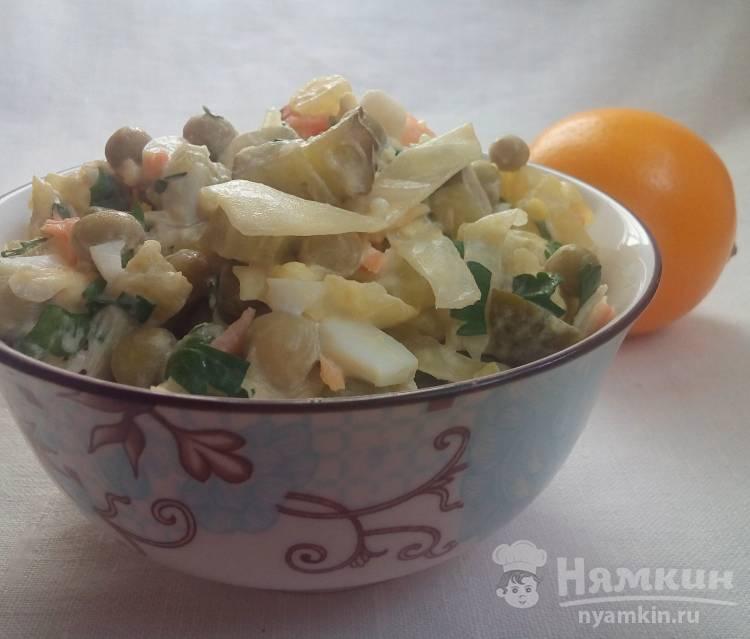 Салат из квашеной капусты с овощами