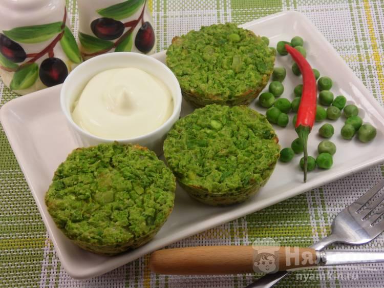 Запеченные котлеты из зеленого горошка