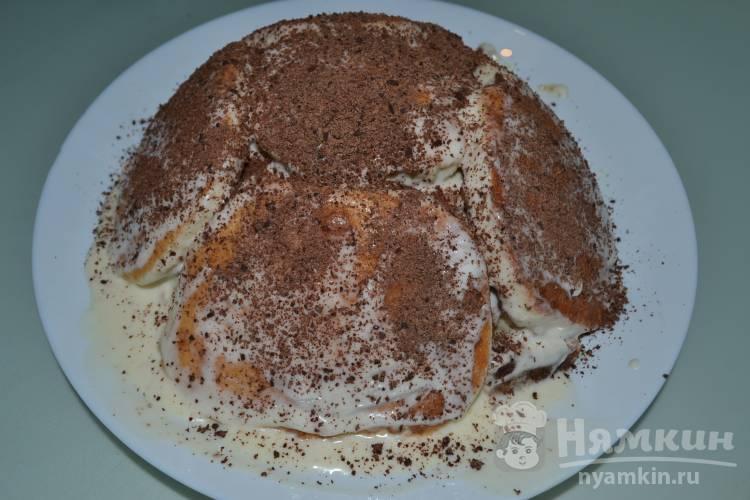 Бисквитный торт из мини коржей