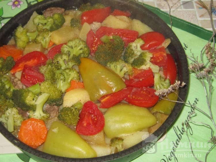 Говядина с брокколи и болгарским перцем